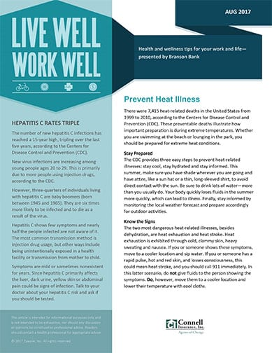 Wellness Updates | Connell Insurance - Part 3